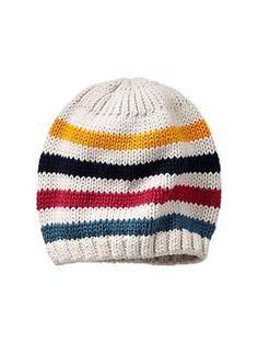 Rainbow stripe sweater hat (Gap 0-24m)