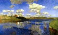 Isaac Levitan  1860-1900 Lake Russ