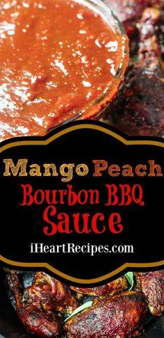 Homemade Bbq Sauce Recipe, Mango Sauce, Barbecue Sauce Recipes, Barbeque Sauce, Bbq Sauces, Bourbon Bbq Sauce Recipe, Grilling Recipes, Vegetarian Grilling, Sauces