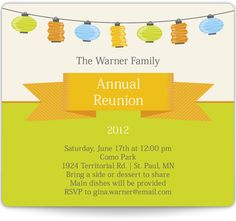 Family Reunion Save the Date!