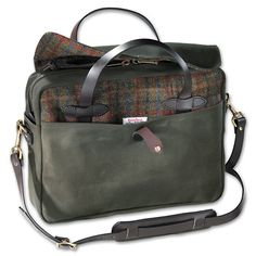 need-it:  Filson Twill and Tweed Original Briefcase : Here A variation of the famous Original Briefcase with Harris Tweed Wool accents....