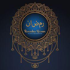 Beautiful ramadan kareem design with mandala Eid Mubarak Greeting Cards, Eid Mubarak Greetings, Ramadan Background, Festival Background, Islamic Art Pattern, Pattern Art, Ramadan Kareem Pictures, Ramadan Celebration, Muslim Ramadan