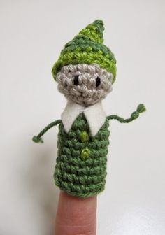 Free crochet pattern for finger puppet elf