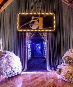 Talk about a grand entrance. Our special guest wanted the entryway to her birthday party to be glamorous fun and full of sparkle. Cant wait to show you all whats behind those curtains. Disco Theme Parties, Disco Birthday Party, 50th Party, Birthday Celebration, Sofia Party, 70s Party Decorations, Studio 54 Disco, Disco Night, Glitter Party