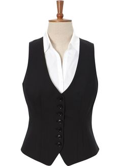 lovely shaping - Black Waistcoat - Suits and Tailoring - Austin Reed