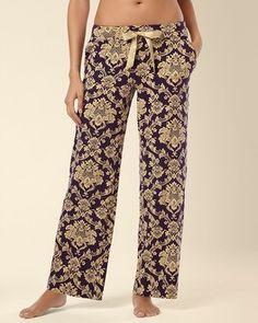 Soma Intimates Embraceable Pajama Pant Nocturnal Blackberry #MySomaWishList