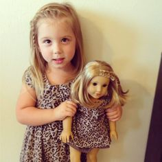Chelsea Houska's daughter Aubree looks so cute with her American Girl doll!