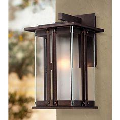 Outdoor Wall Light Fixtures, Exterior Light Fixtures, Outdoor Wall Lantern, Exterior Lighting, Outdoor Walls, Contemporary Outdoor Lighting, Landscape Lighting, Glass Wall Lights, Porch Lighting