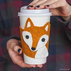 Craft up this adorable DIY cup cozy with a woodland fox design. The only materials you need are felt, scissors and glue for this 15-minute project