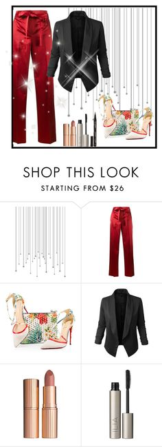 """AD"" by behijadedic ❤ liked on Polyvore featuring Helmut Lang, Christian Louboutin, Jupe de Abby, Charlotte Tilbury, Ilia and Smith & Cult"