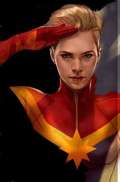 Salulting Captain Marvel - Ben Oliver