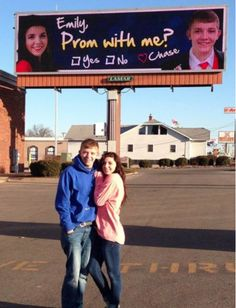 High School Kid Rents Out Highway Billboard To Ask Girl To Prom. Would you go? Click to watch the heartwarming video