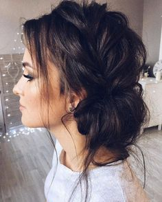 Beautiful updo with side braid wedding hairstyle for romantic bridess. Get inspired by this braid updo bridal hairstyle,loose updo messy wedding hairstyles Hairstyles loose Beautiful updo with side braid wedding hairstyle for romantic brides Hairstyles Haircuts, Braided Hairstyles, Braided Updo, Pretty Hairstyles, Messy Updo, Hairstyle Ideas, Twisted Updo, Straight Hairstyles, Latest Hairstyles