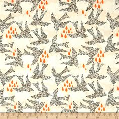Designed by Bonnie Christine for Art Gallery Fabrics, this cotton print is perfect for quilting, apparel and home decor accents.  Colors include white, very light peach, grey and coral orange.  Art Gallery Fabric features 200 thread count of finely woven cotton.