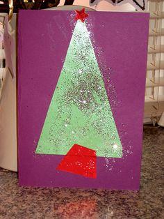 Homemade Christmas Tree card for the kids to make!