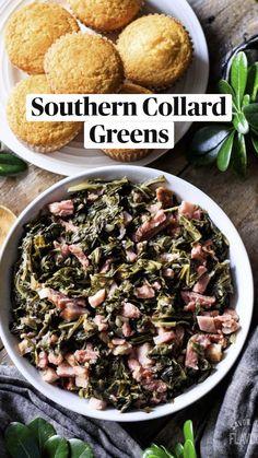 Onion Recipes, Veggie Recipes, New Recipes, Cooking Recipes, Favorite Recipes, Healthy Recipes, Southern Collard Greens, Collard Greens Recipe, Vegetarian Recipes Dinner