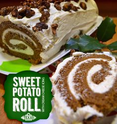 This Sweet Potato Roll with Cream Cheese Icing is delicious! Wow your guests with this dessert.