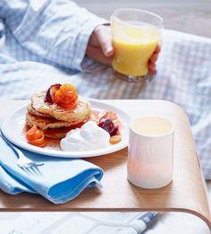Pancakes-Rezept mit Feigen-Kumquat-Kompott - schmeckt nach Sonnenaufgang am Strand von Malibu.