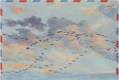 Christopher Glanville Birds Postcard - Sky High