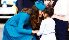 I love this picture.  Duchess Catherine Kate greeting a little girl. More and more like Princess Diana, yet still her own woman.  Well done.