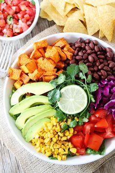 Sweet Potato and Black Bean Mexican Salad Recipe on twopeasandtheirpod.com. Love this fresh and simple salad! #glutenfree #vegan #salad