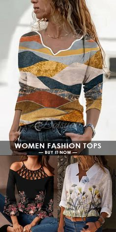 Realyiyi is an online store for women's fashion. We provide women with affordable clothing. Follow us to learn about our discounts and new products faster. #fall #winter #dress #print #fashion #shirt #tee Fashion Prints, Women's Fashion, Affordable Clothes, Pant Jumpsuit, Fall Winter, Blazer, Popular, Printed, Tees