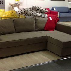 Manstad at ikea corner sofa bed with storage $699