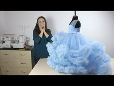 How to sew a dress Cloud - Master Class presentation! Frock Patterns, Gown Pattern, Girl Dress Patterns, Girls Dresses Sewing, Girls Pageant Dresses, Dresses Kids Girl, Frock Design, Baby Dress Design, Kids Frocks
