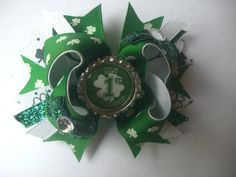 My first St Patricks Day Bow by AbraBOWdana on Etsy, $8.00