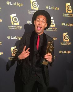 "manu ❤❤ NJR... ✌ on Instagram: ""Neymar na premiação da LaLiga 14/15 !! #PremiosLaLiga"""