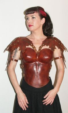 Womans leather armor breastplates with by LeatherboundArmor, $445.00
