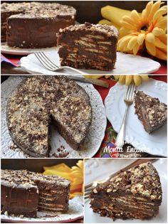 Bolo Torta de Palha Italiana, mais gostosa e mais fácil de fazer do mundo inteiro. Leva só 2 ingredientes: Brigadeiro Gourmet e Biscoito de Maisena.