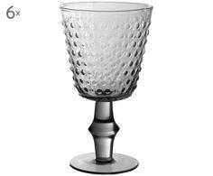 Cheers! Stoßen Sie an mit Rotweinglas Nicola (6er-Set) in Grau. Bestellen Sie ausgefallene und dekorative Gläser von COTE TABLE jetzt auf >> WestwingNow.