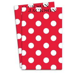 Personalized Red Polka Dot Notepads