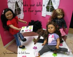 Make a floor game like Twister for dolls