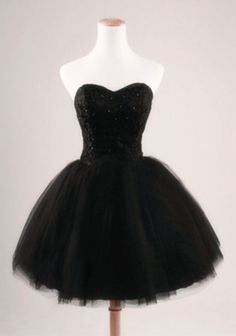 Cute cheap short black puffy poofy prom formal homecoming corset ...