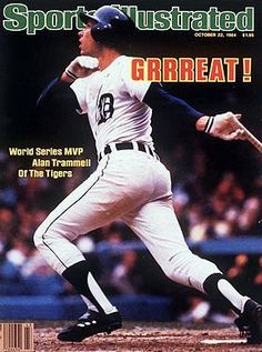 October 1984 Sports Illustrated via Getty Images Cover: Baseball: World Series: Detroit Tigers Alan Trammell in action, hitting home run vs San Diego Padres. Game Detroit, MI Get premium, high resolution news photos at Getty Images Detroit Sports, Detroit Tigers Baseball, Sports Teams, Nfl Sports, Pittsburgh Steelers, Dallas Cowboys, Detriot Tigers, Sports Magazine Covers, Tiger World
