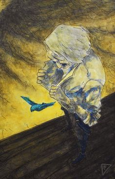 Eddie Terzi: Foto / There's a blue bird in my heart and wants to get out . Bukowski. Encontrei!