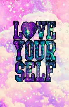 Love yourself wallpaper I created for the app CocoPPa!