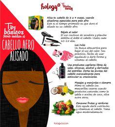Cómo cuidar el cabello afro alisado - frology.com #afroblog #afrolatina