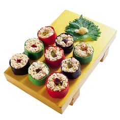 Mock Sushi: maybe for Tobias in a Japanese themed birthday party hosted by Godzilla?