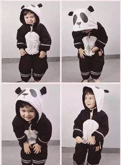 INS 2016 WINTER KIDS  PANDA ROMPERS COAT OUT baby boy clothing BABY rompers baby girl clothes kikikids vetement enfant VESTIDOS