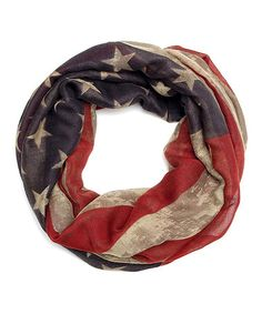 Look what I found on #zulily! Red & Navy Distressed Flag Infinity Scarf by Urbanista #zulilyfinds