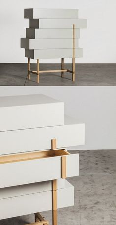 Lacquered storage unit with drawers GALENA by Miniforms