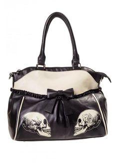 Parallel Universe Skull Handbag by Banned Apparel
