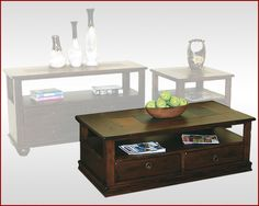 Sunny Designs Coffee Table w/Drawers Santa Fe Coffee Table With Drawers, Coffee Table Design, Blue Bedroom, Santa Fe, Living Room Furniture, Table Settings, Diy Projects, Home Decor, Hall Furniture
