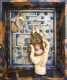 "Antonio G. Nunez, ""Life Labyrinth"" Shadowbox. Year 2015."