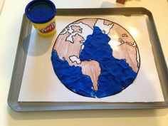 """I would use this show children the shape of the earth and make the water """"come alive"""" using the play-doh."""