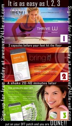 It is as easy as 1, 2, 3 and you are done for the day. Register for a free account today at aweaver741.le-vel.com . Place an order of $100 or more today and email me a copy of your receipt at aweaver741thriving@gmail and I will send you $50 in free products.