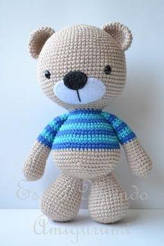 It is a Amigurumi World: Free Pattern ... Polera Bear with Stripe